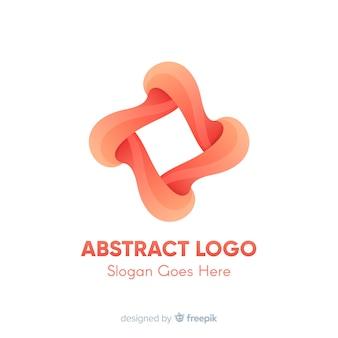Modelo de logotipo com formas abstratas