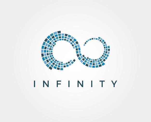 Modelo de logotipo com infinito mínimo