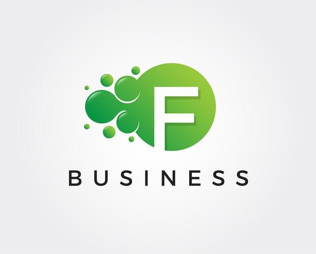 Modelo de logotipo com letra f mínima