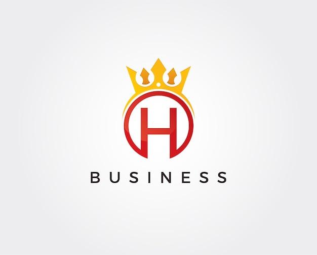 Modelo de logotipo com letra mínima h
