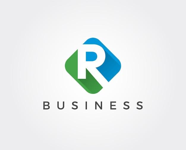 Modelo de logotipo com letra mínima r
