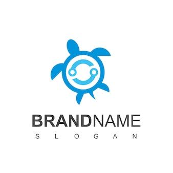 Modelo de logotipo com tecnologia turtle strong