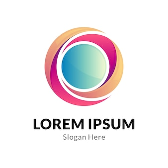 Modelo de logotipo comercial do círculo