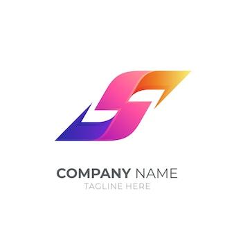 Modelo de logotipo comercial moderno da letra s