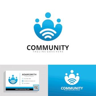 Modelo de logotipo comunitário