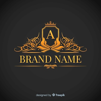 Modelo de logotipo corporativo elegante dourado
