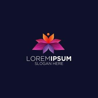 Modelo de logotipo criativo e moderno colorido abstrato premium