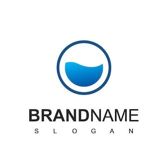 Modelo de logotipo da blue water