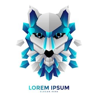 Modelo de logotipo da blue wolf