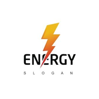 Modelo de logotipo da bolt energy
