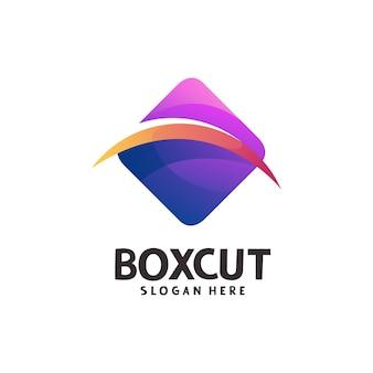 Modelo de logotipo da caixa