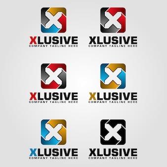 Modelo de logotipo da carta x