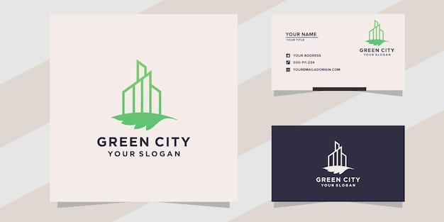 Modelo de logotipo da cidade verde
