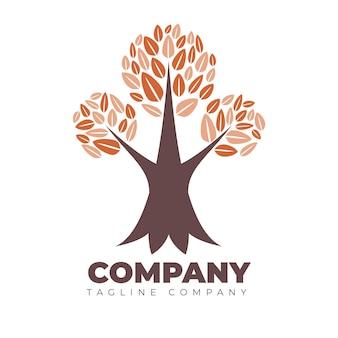 Modelo de logotipo da empresa tree life