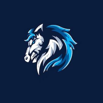 Modelo de logotipo da equipe de cavalo e-sports