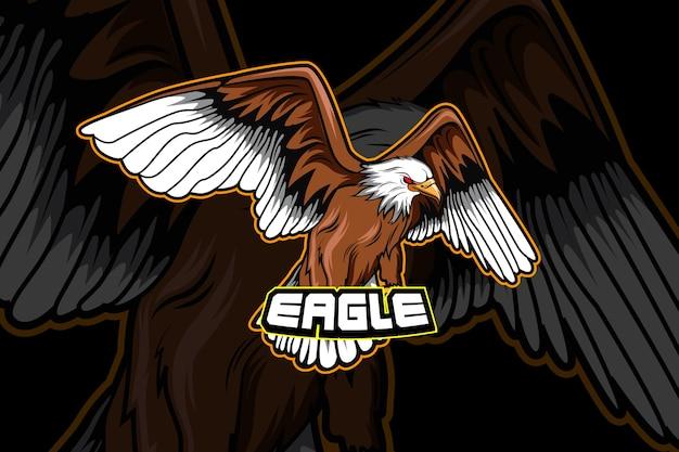 Modelo de logotipo da equipe eagle e-sports
