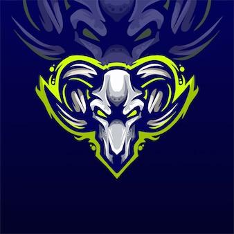 Modelo de logotipo da equipe mad goat e-sports