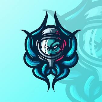 Modelo de logotipo da equipe octopus e-sports