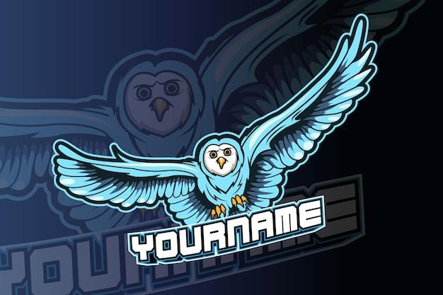 Modelo de logotipo da equipe owl e-sports