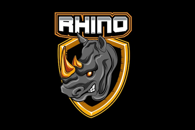 Modelo de logotipo da equipe rhino e-sports