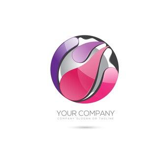 Modelo de logotipo da esfera