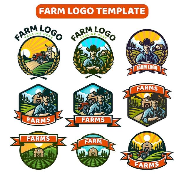 Modelo de logotipo da fazenda
