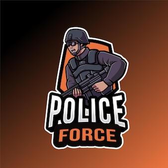 Modelo de logotipo da força policial