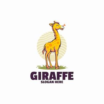 Modelo de logotipo da girafa