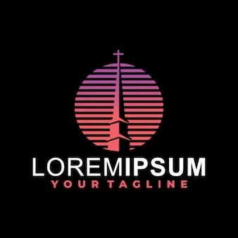 Modelo de logotipo da igreja