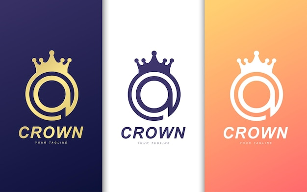 Modelo de logotipo da letra a. conceito do logotipo do rei moderno