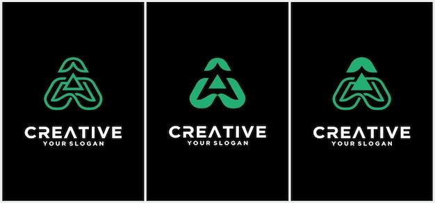Modelo de logotipo da letra a. ícone abstrato. modelo de design de vetor de logotipo criativo letra a. tipo de letra a bonito amigável.