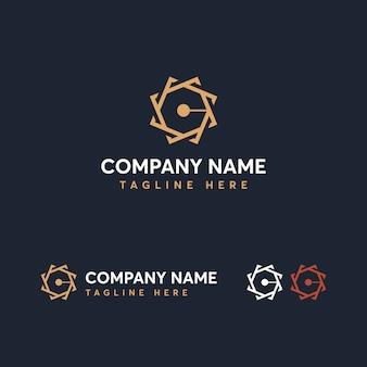 Modelo de logotipo da letra c