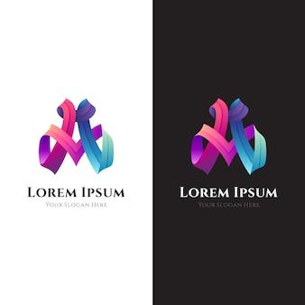 Modelo de logotipo da letra inicial a