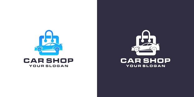 Modelo de logotipo da loja de carros