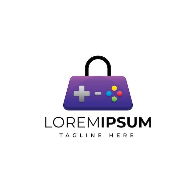 Modelo de logotipo da loja de jogos