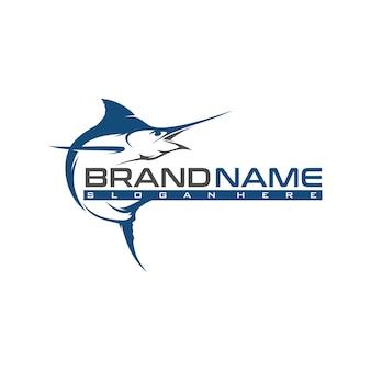 Modelo de logotipo da marlin