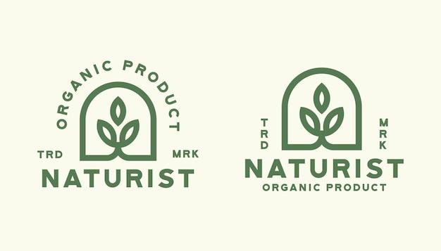 Modelo de logotipo da natureza da folha