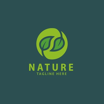 Modelo de logotipo da natureza
