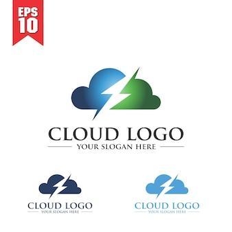 Modelo de logotipo da nuvem
