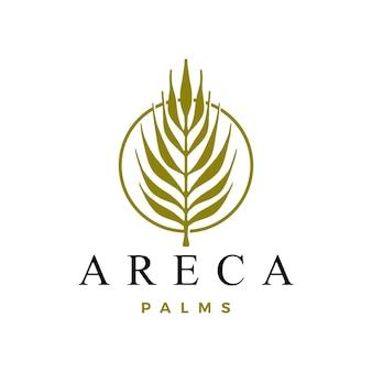 Modelo de logotipo da palma areca