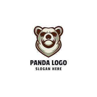 Modelo de logotipo da panda