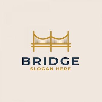 Modelo de logotipo da ponte. ilustração vetorial