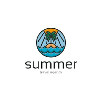Modelo de logotipo da summer beach island