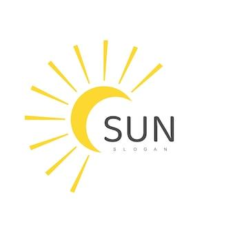 Modelo de logotipo da sun, ilustração de design de ícone