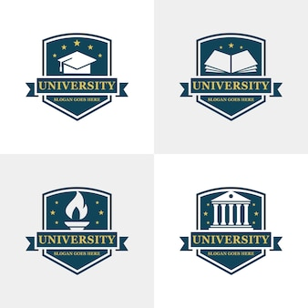 Modelo de logotipo da universidade