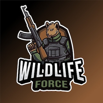 Modelo de logotipo da wildlife force