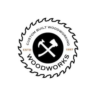 Modelo de logotipo da wood industries company