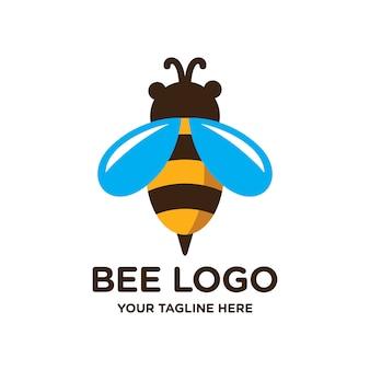 Modelo de logotipo de abelha