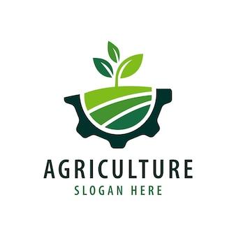 Modelo de logotipo de agricultura