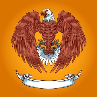 Modelo de logotipo de águia americana